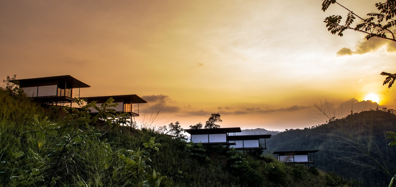 Individual rooms perched on stilts overlooking the valley  Santani Wellness Resort and Spa