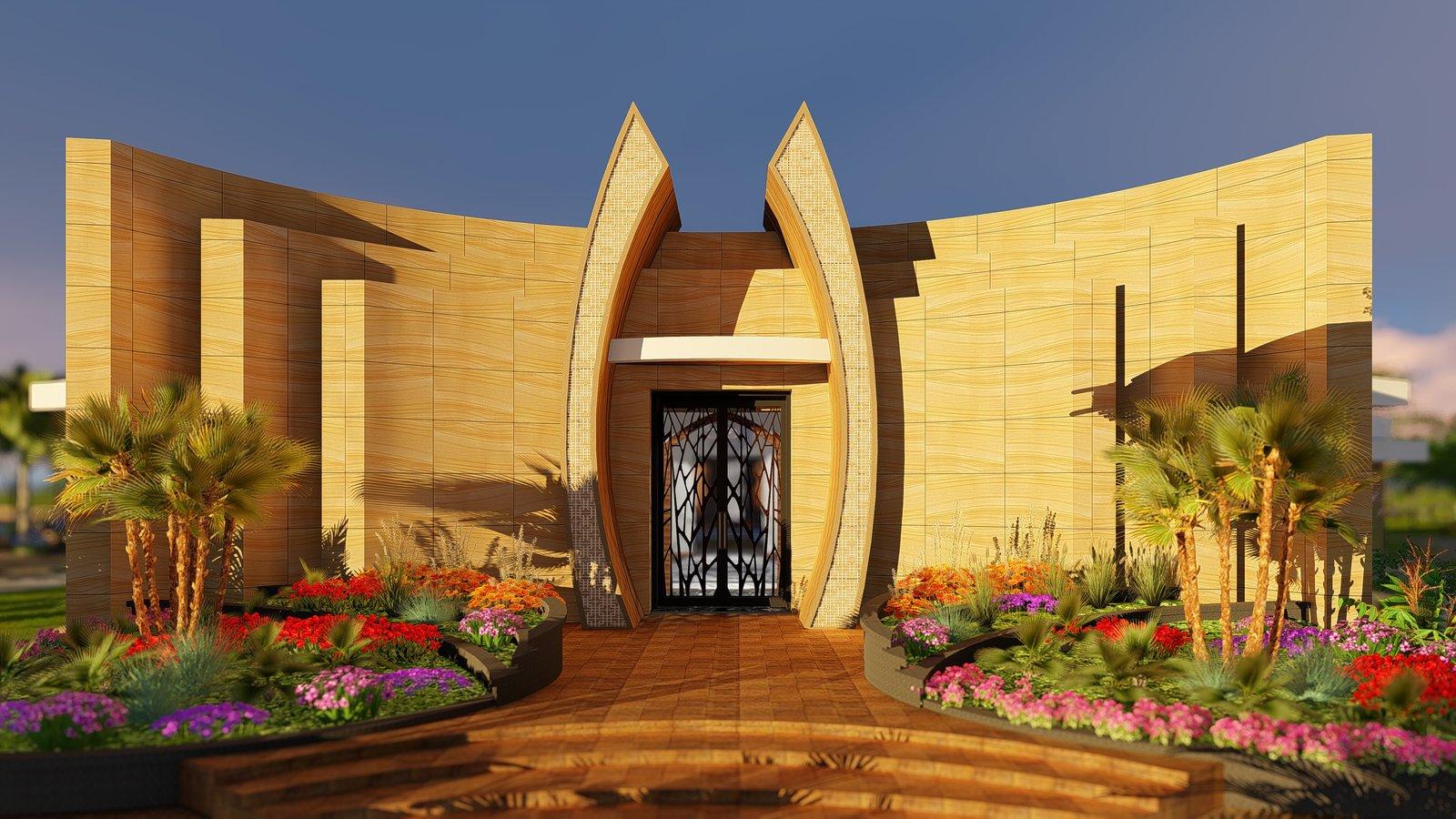 Desert Villa Spa Retreat Modern Home Dubai