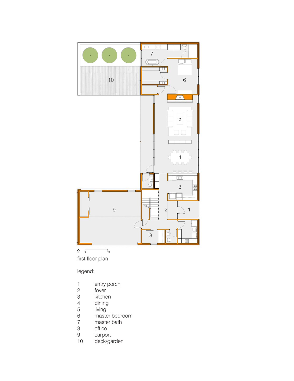 First Floor Plan  House for Five