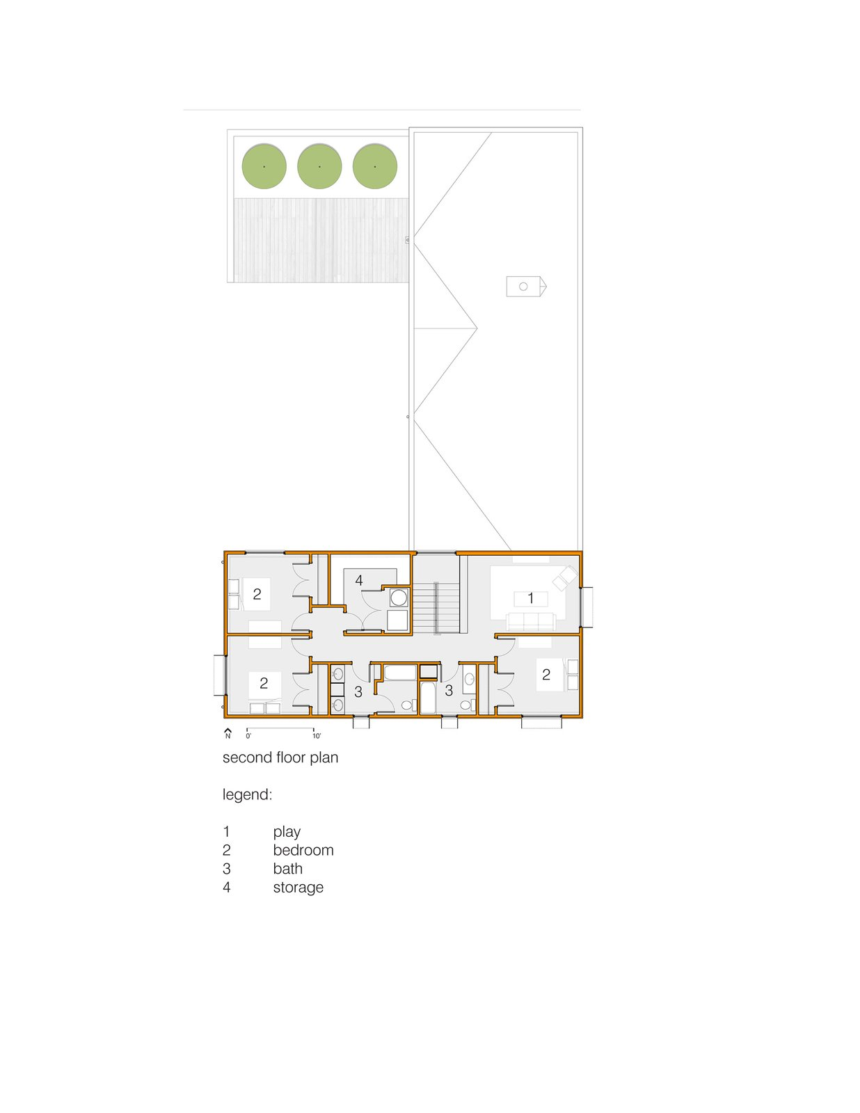 Second Floor Plan  House for Five