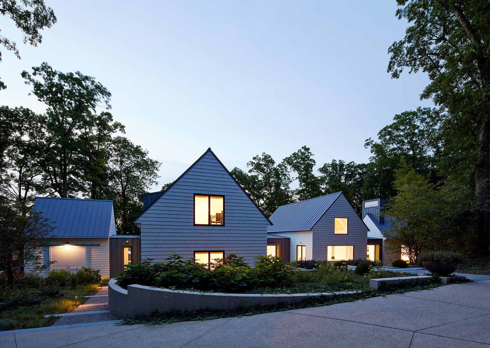Front Approach  New Buffalo Residence by Booth Hansen