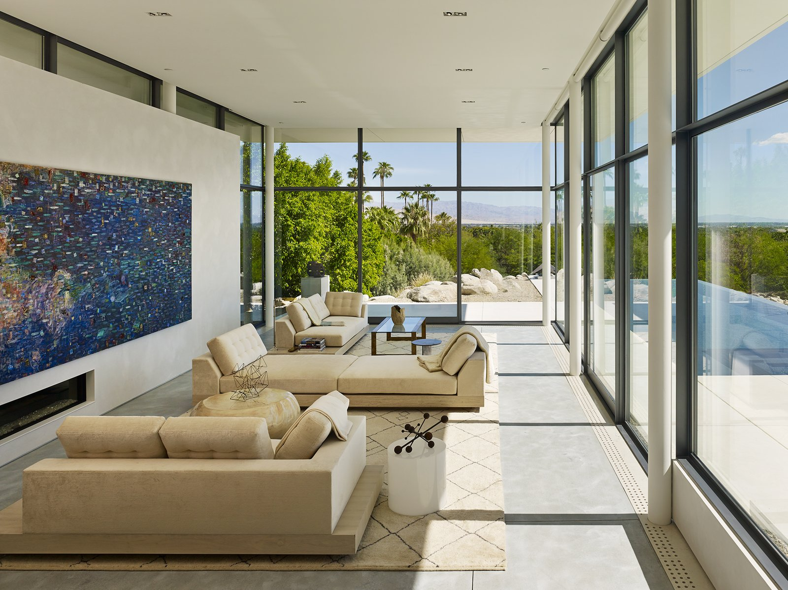 Living Room / View Towards Palm Springs  Palm Springs House by Booth Hansen