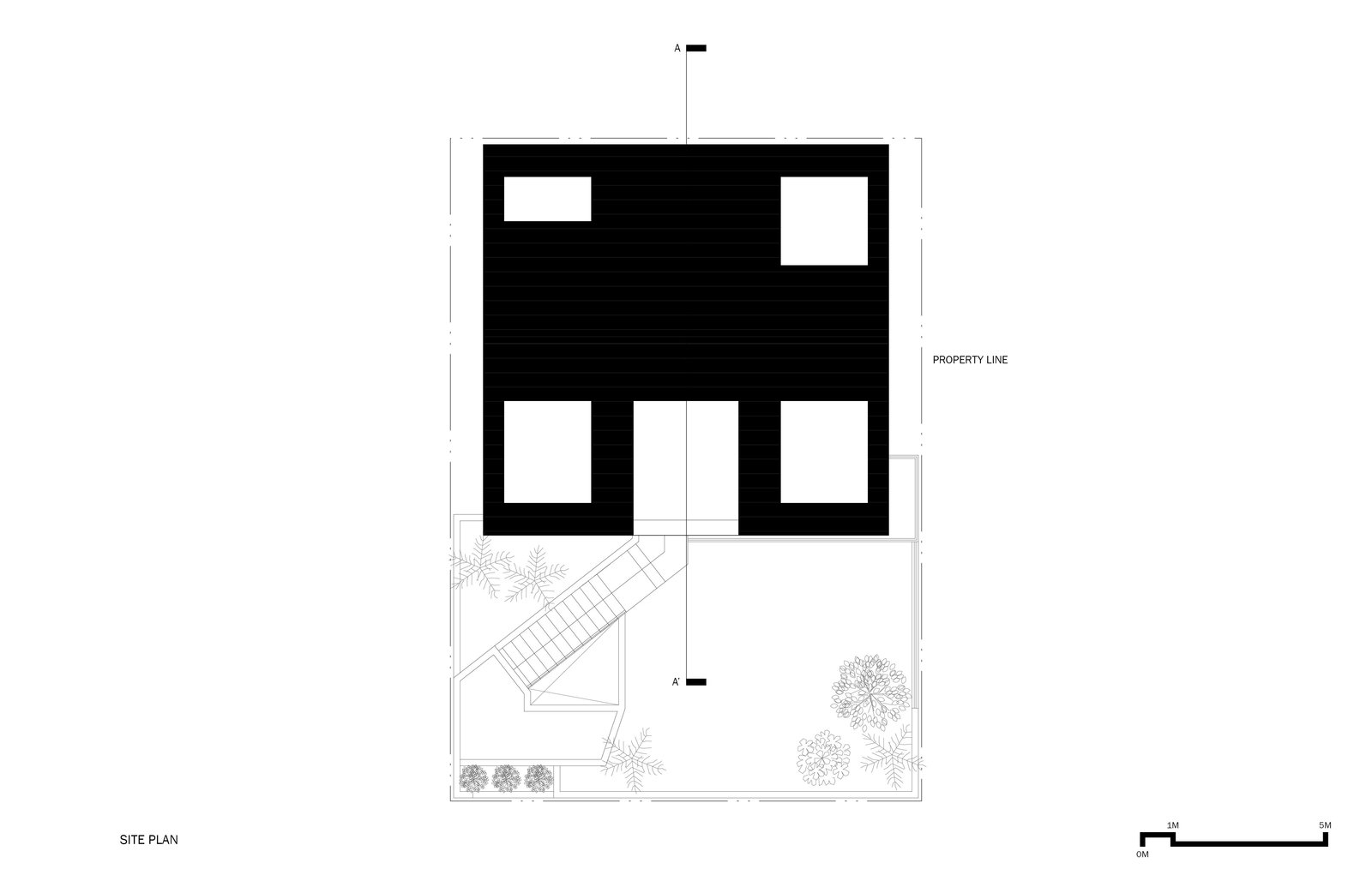 Outdoor Site Plan  A House by Chang Kyu Lee