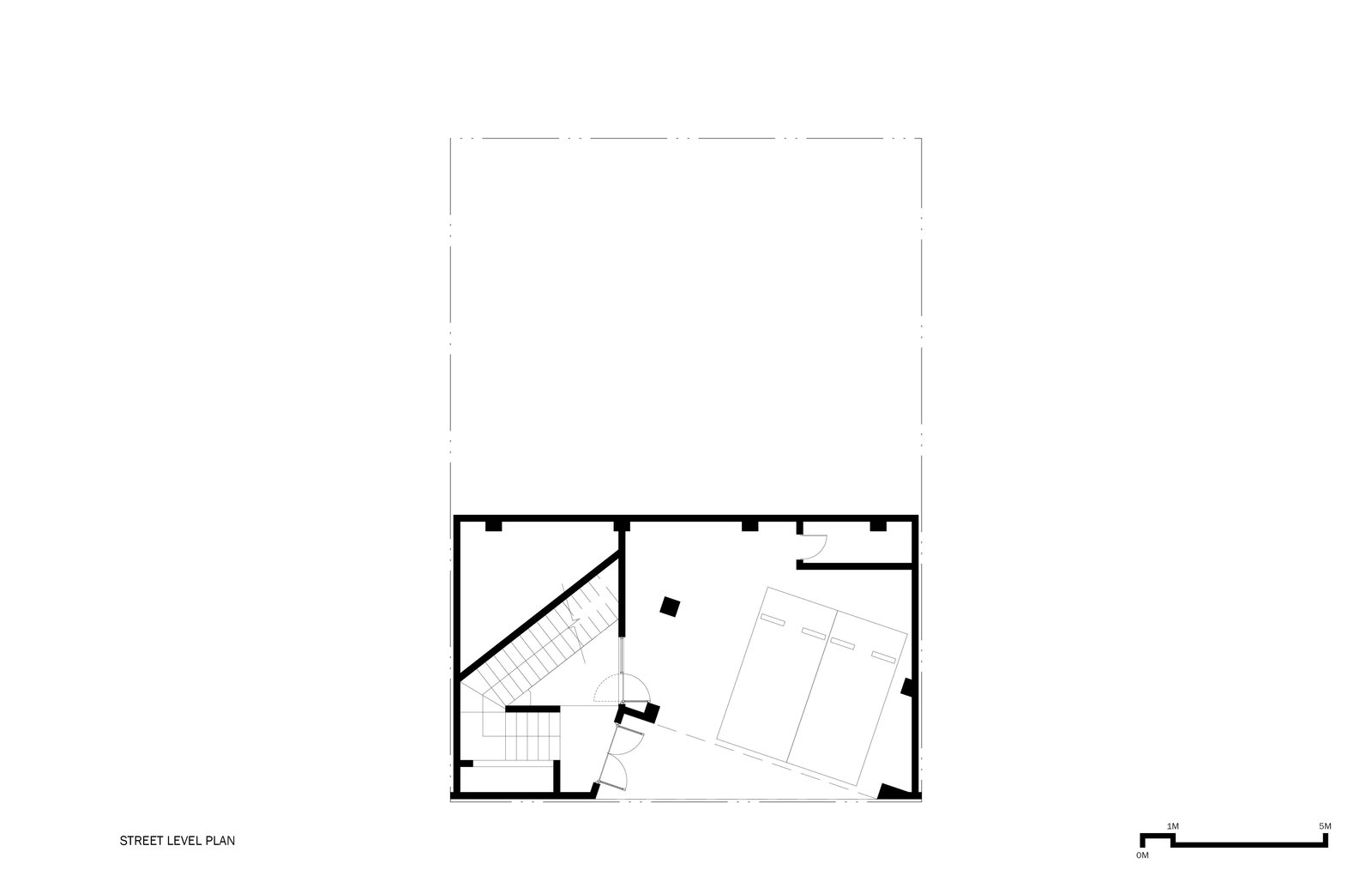 Street Level Plan  A House by Chang Kyu Lee