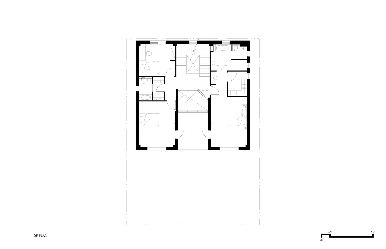 2F Plan  A House by Chang Kyu Lee