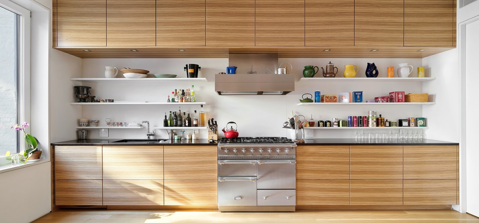 Sleek Poghenpohl kitchen with La Conch Triple Oven  Uptown Loft