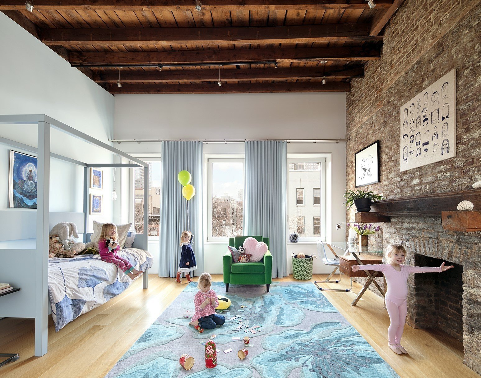 Sunfilled bedroom fit for a princess  Uptown Loft