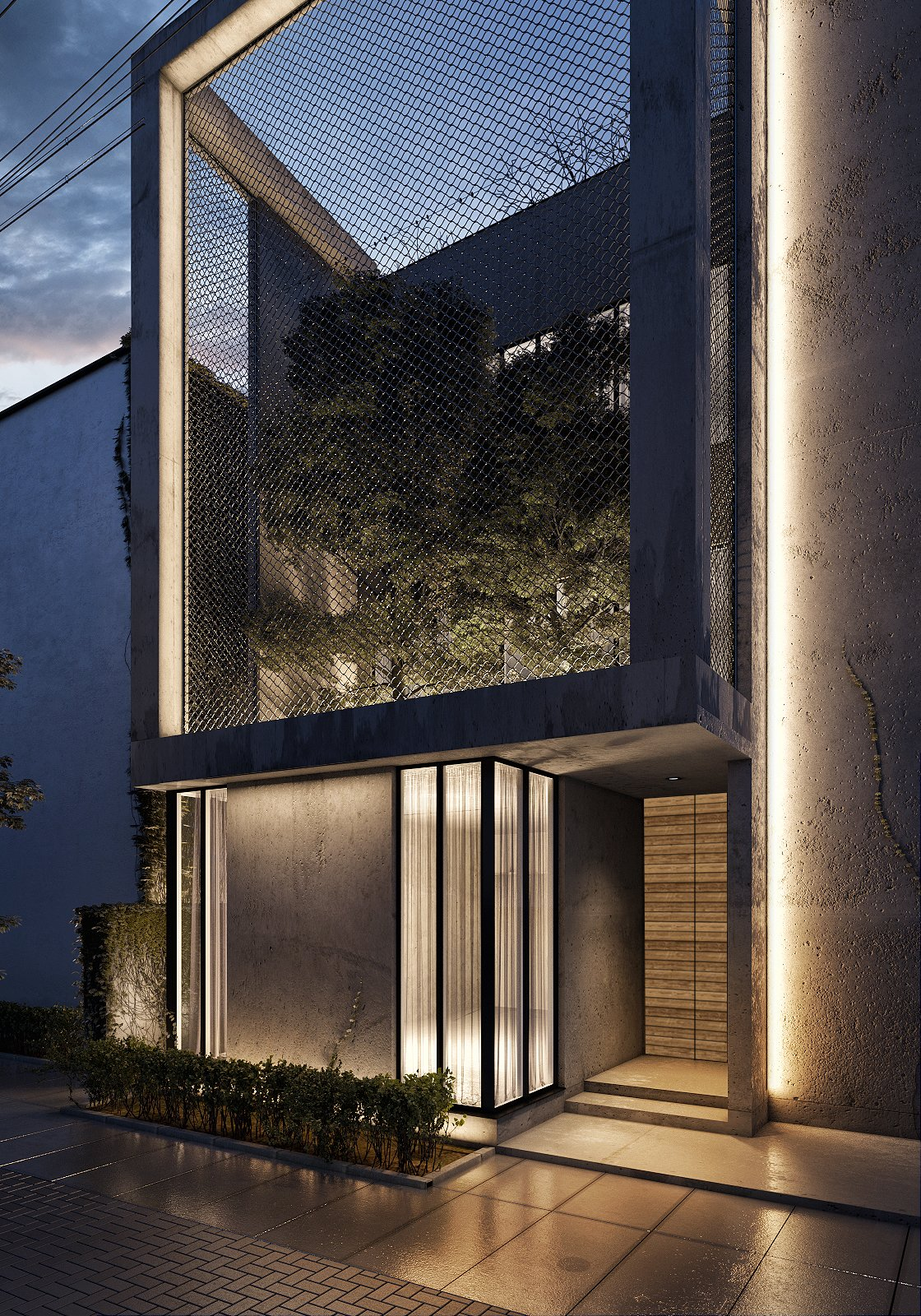 Close Up of Villa Exterior   The Al Ali Home by Lines Design Creation and Consultancy