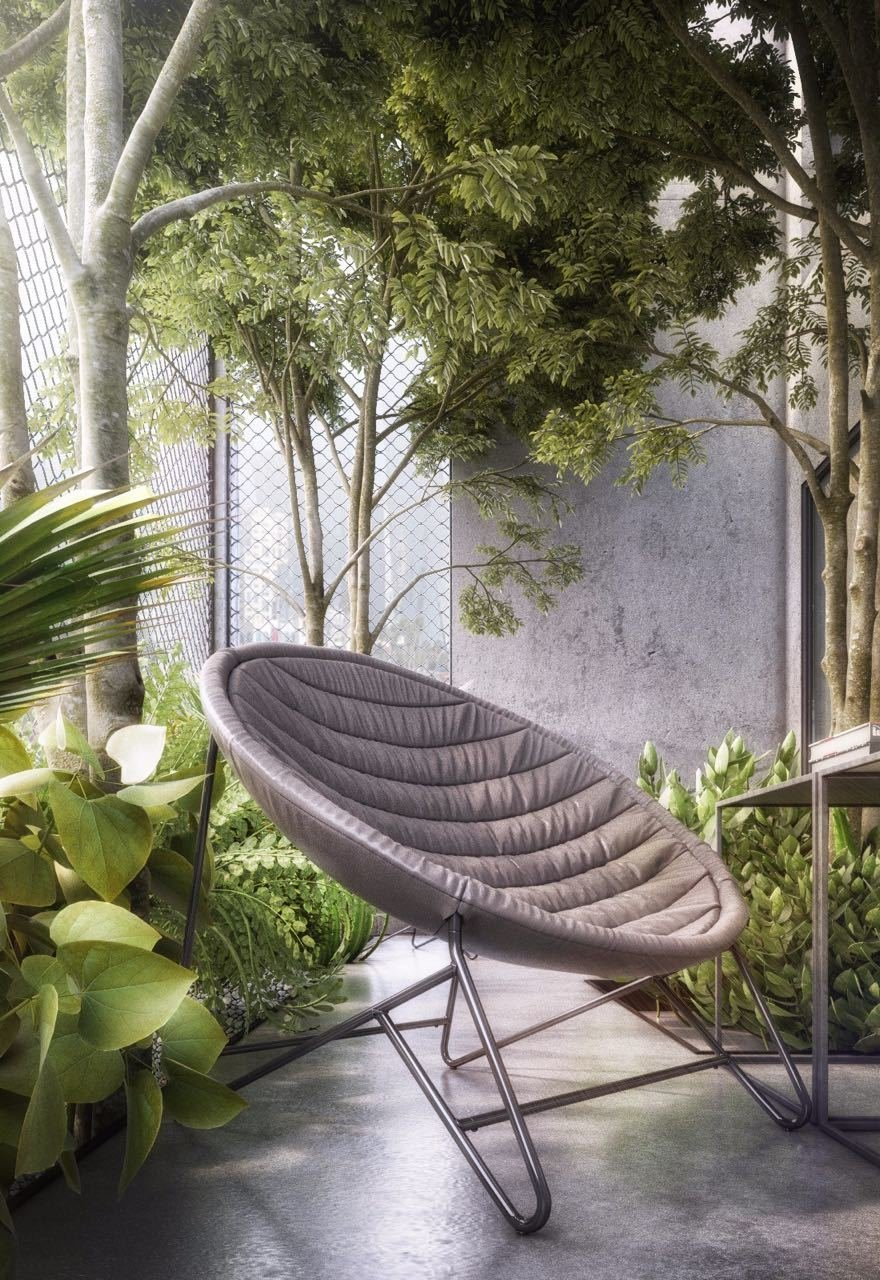 Urban Garden Seating   The Al Ali Home by Lines Design Creation and Consultancy