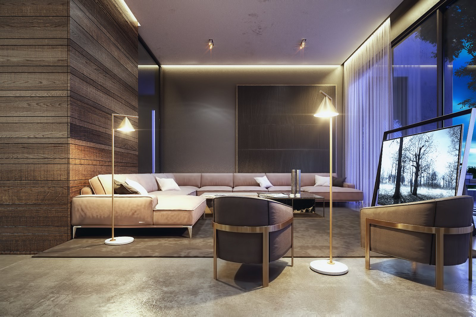 Living Room Space   The Al Ali Home by Lines Design Creation and Consultancy