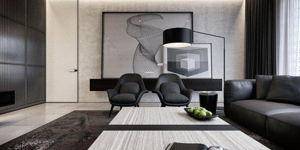 Mezzanine Area   Monochrome Veil by Lines Design Creation and Consultancy