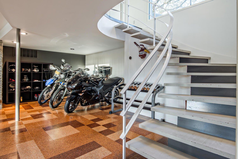 Staircase, Concrete Tread, and Metal Railing Stairs   An Eduard Dreier Home asked $1.2M