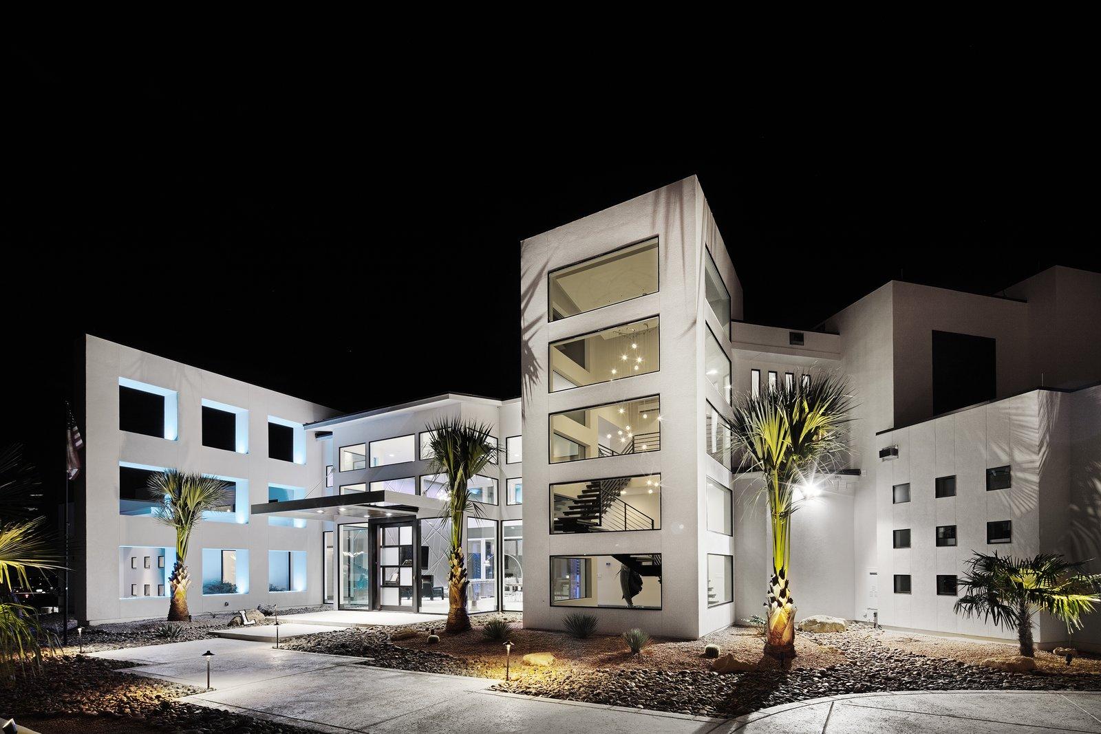 FRONT FACADE  ALTURA HOUSE by OSCAR E FLORES DESIGN STUDIO