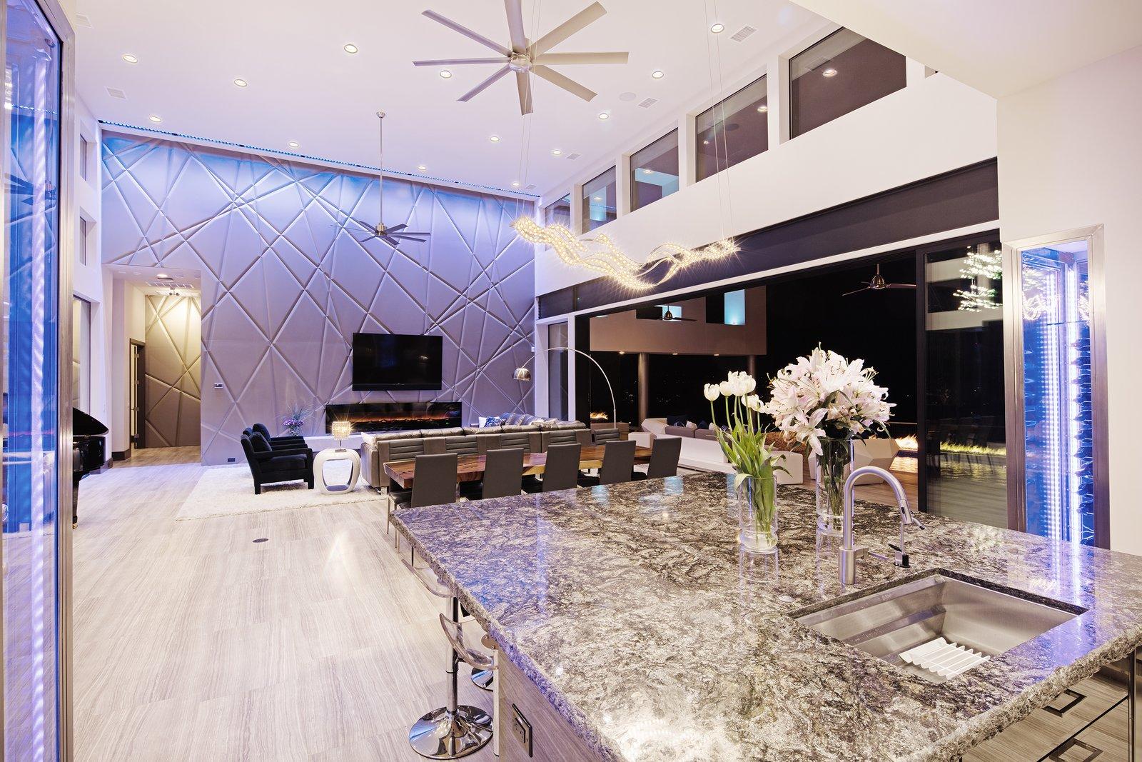 OPEN LIVING DINING KITCHEN  ALTURA HOUSE by OSCAR E FLORES DESIGN STUDIO