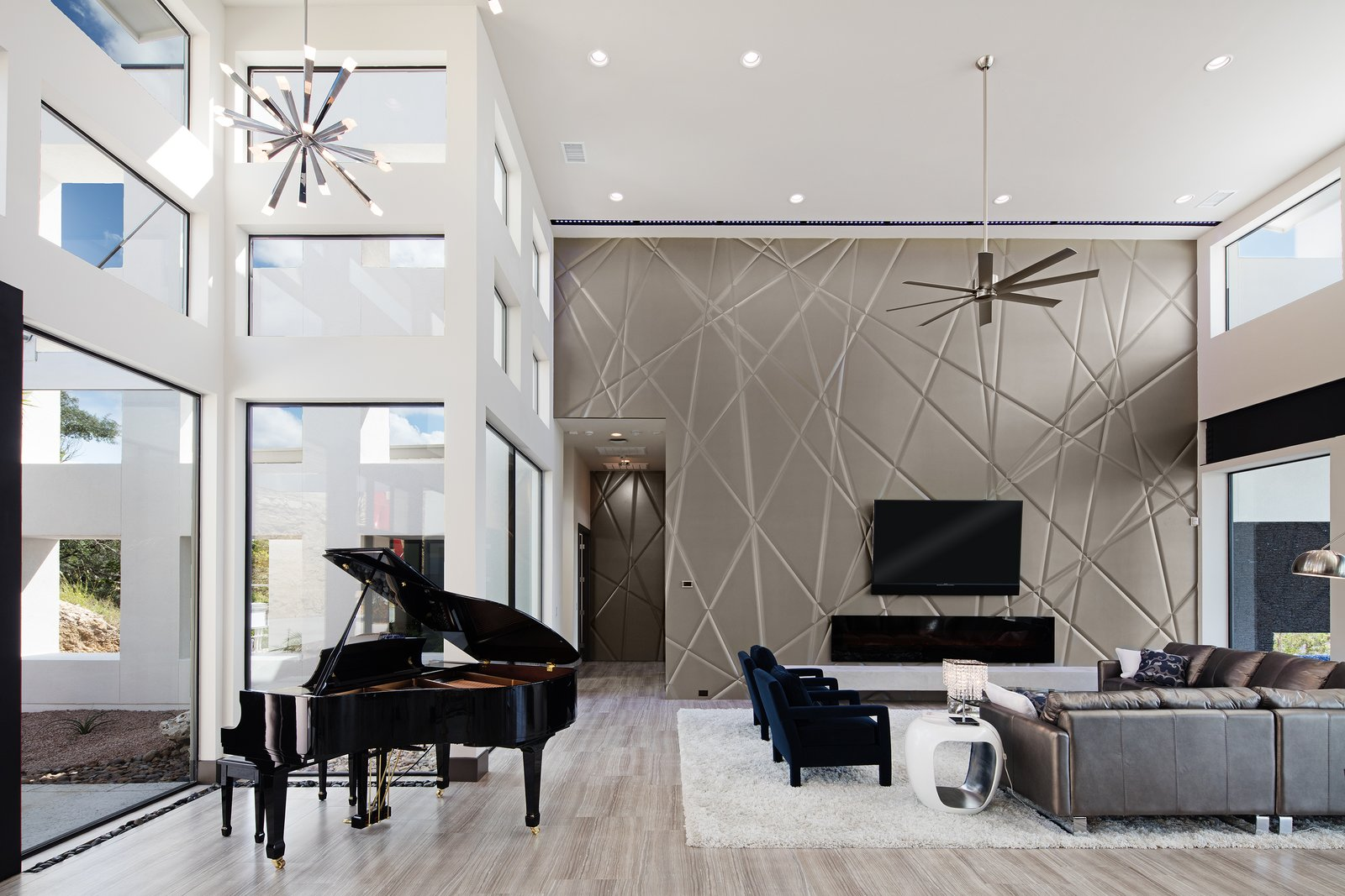 PIANO AREA  ALTURA HOUSE by OSCAR E FLORES DESIGN STUDIO