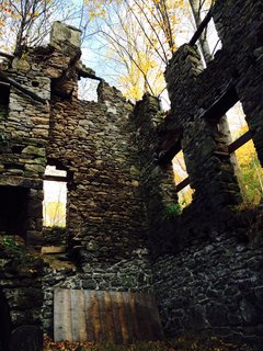 Inside a 350 year old stone bank homestead.
