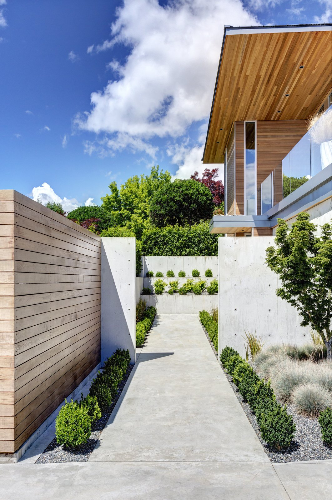 Garden Wall Residence, front entry walk  Garden Wall Residence by Garret Cord Werner