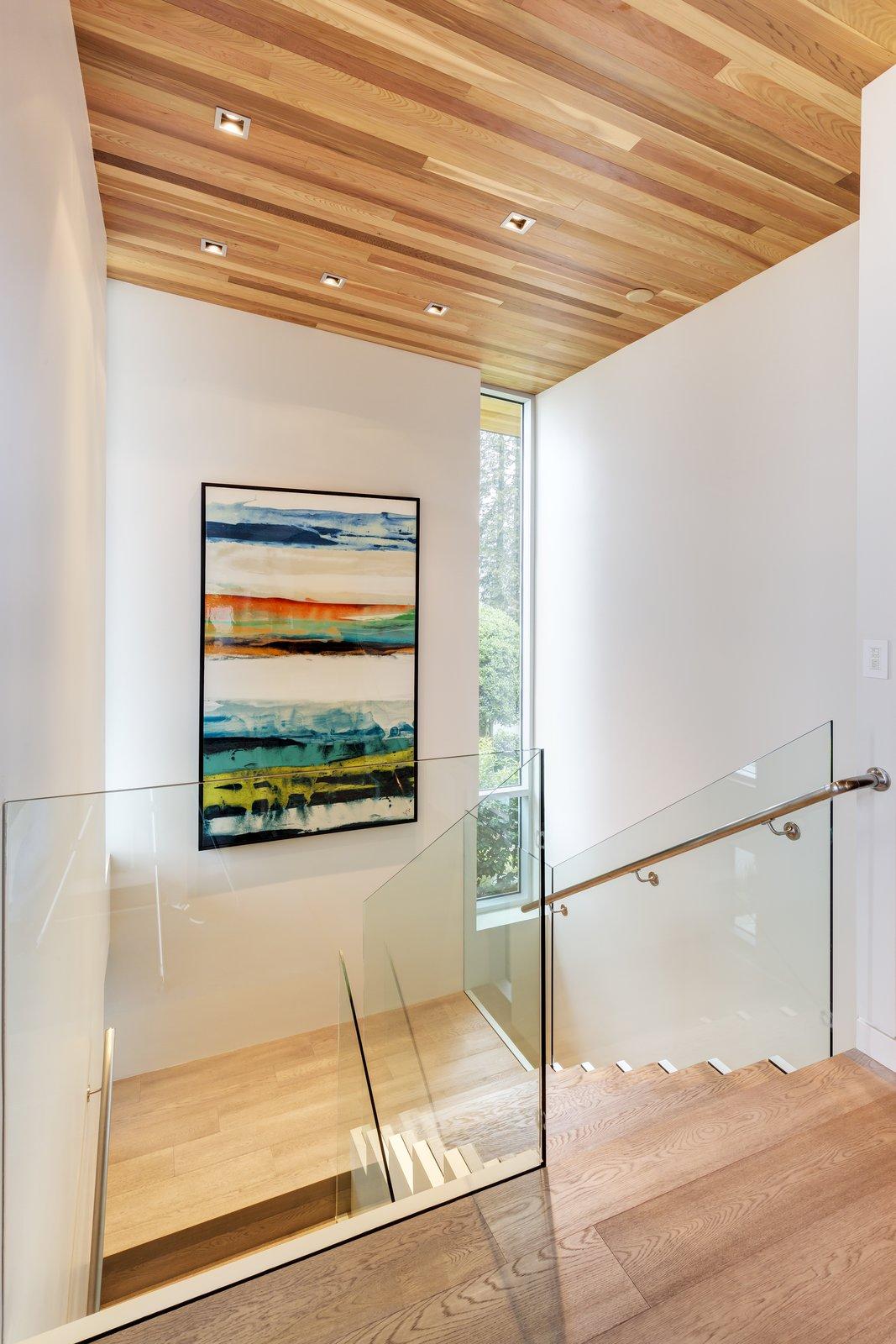 Garden Wall Residence, upper staircase  Garden Wall Residence by Garret Cord Werner
