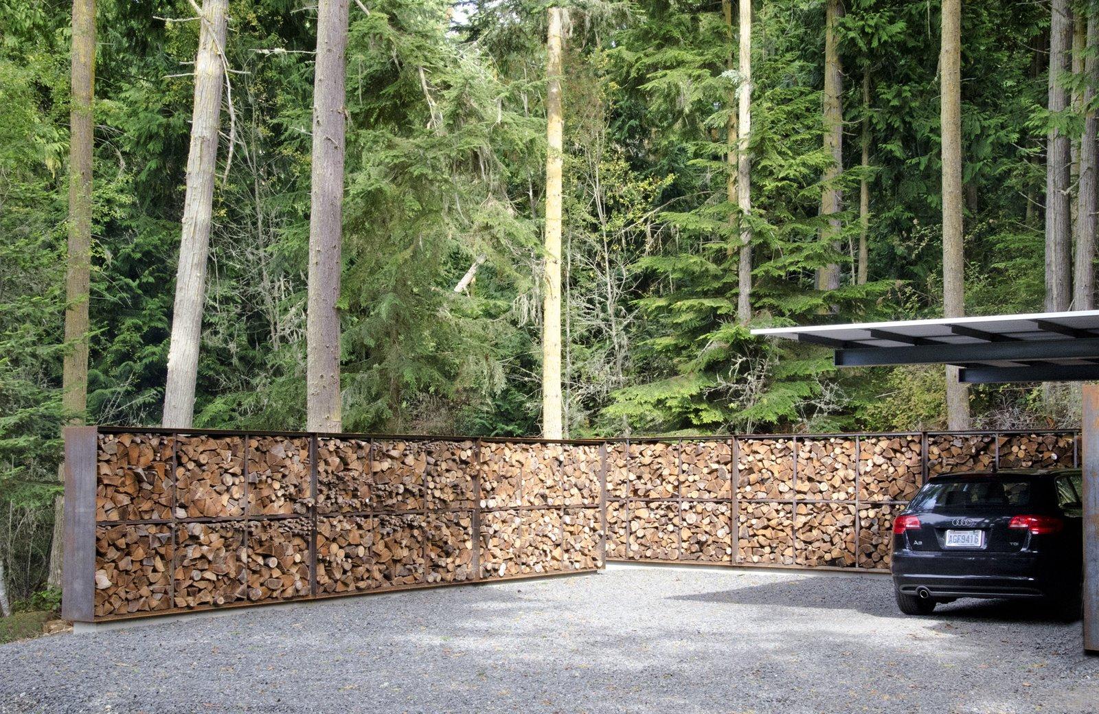 carport/wood storage  Villa Lucy Carport by katherine wesselman