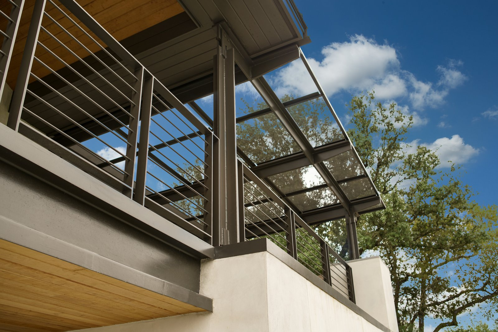 Awning detail  River Garden Trail Residence by Texas Construction Company