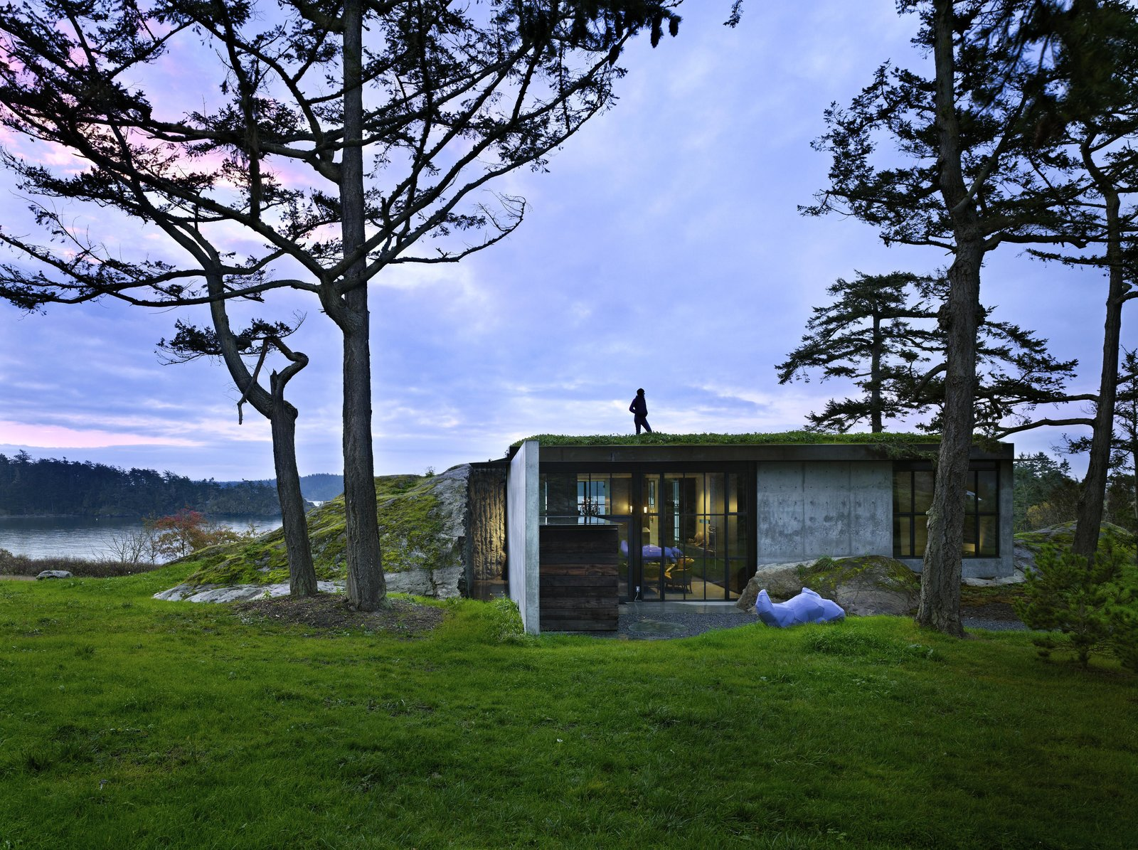Exterior, House Building Type, Flat RoofLine, Green Roof Material, Glass Siding Material, and Concrete Siding Material The Pierre | Olson Kundig  The Pierre