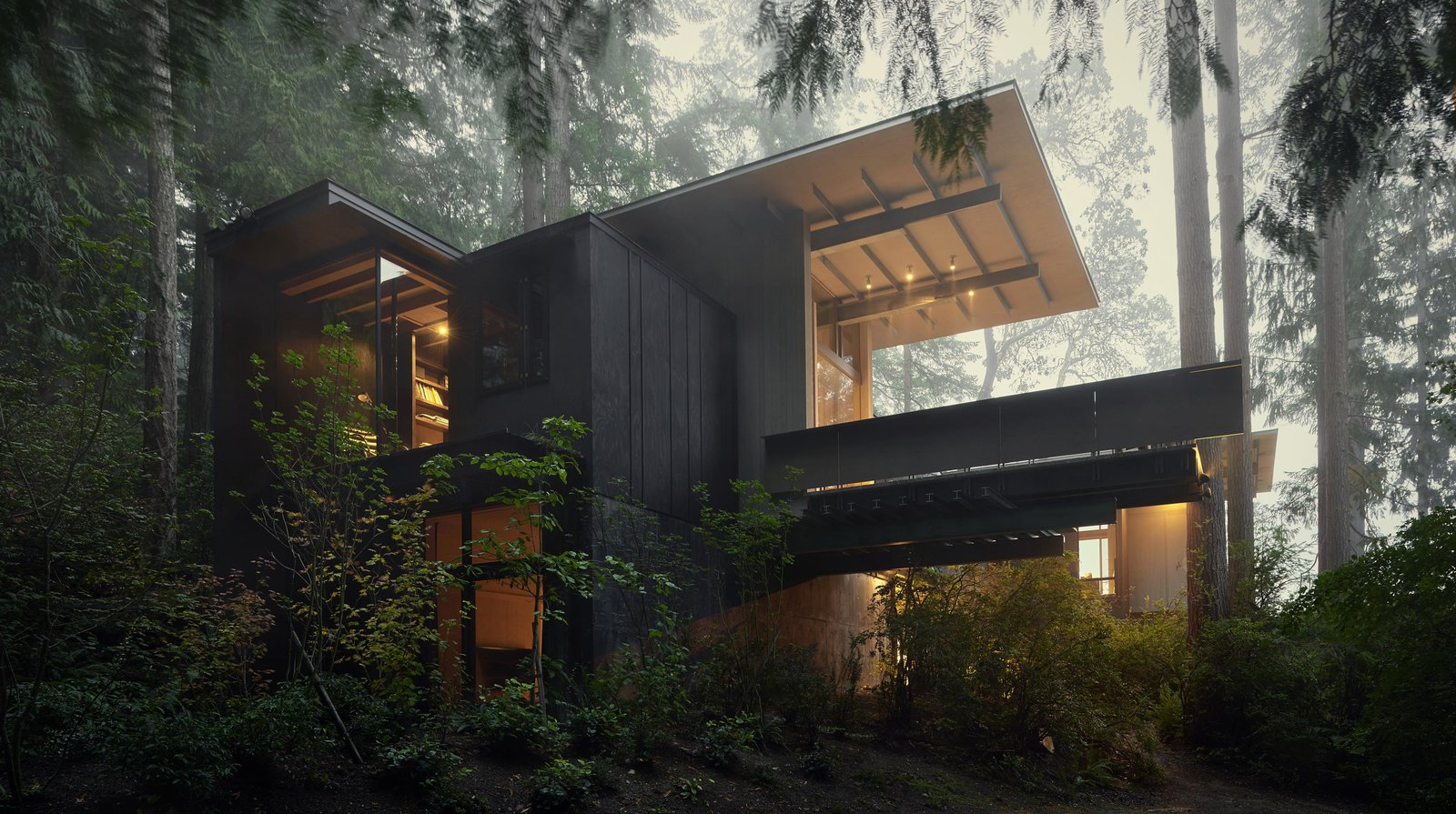 Outdoor, Woodland, and Slope Cabin at Longbranch | Olson Kundig  Best Photos from Dwell Community's Top 20 Homes of 2017