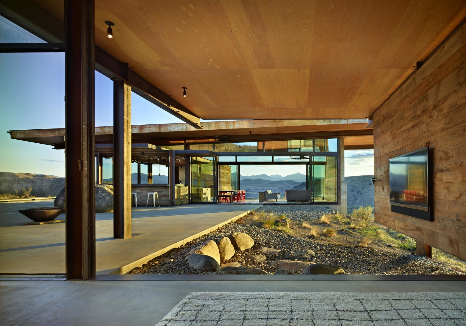 Studhorse | Olson Kundig Tagged: Outdoor, Boulders, Large Patio, Porch, Deck, and Desert.  Best Photos from Studhorse