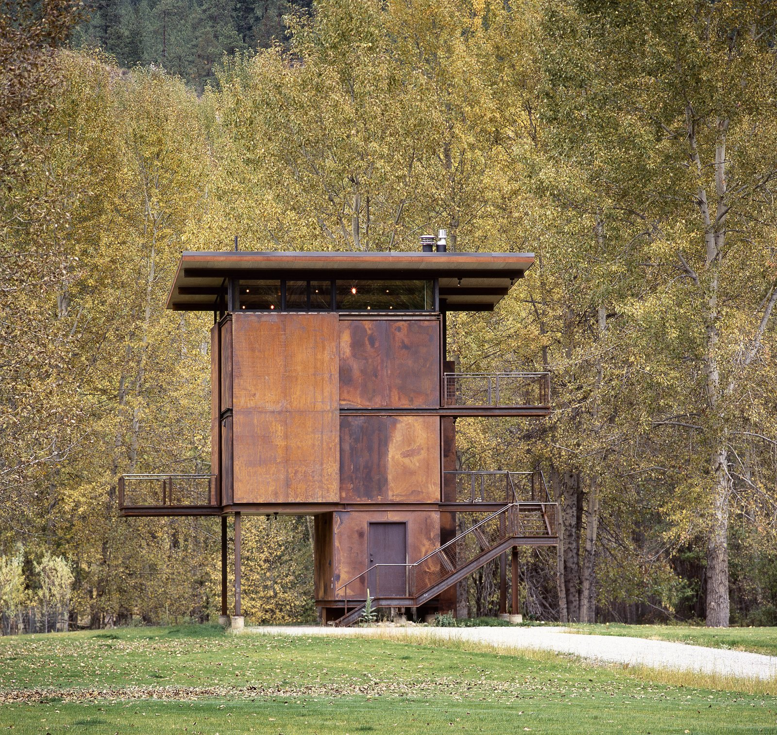 Exterior, House Building Type, Flat RoofLine, and Metal Siding Material Delta Shelter | Olson Kundig  Photos from Delta Shelter
