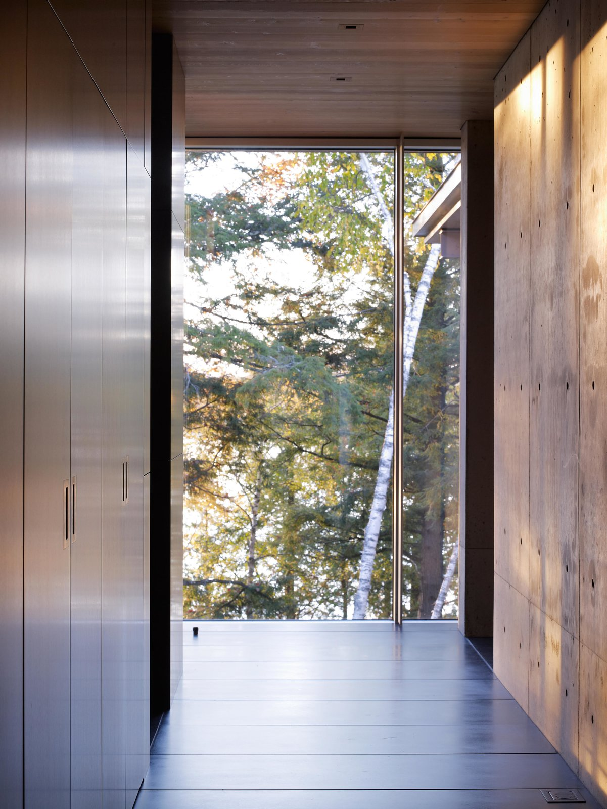 Exterior, Wood, Metal, Garden, Coffee Tables, Table, Storage Room, and Chair Northwoods House  Northwoods House by Olson Kundig