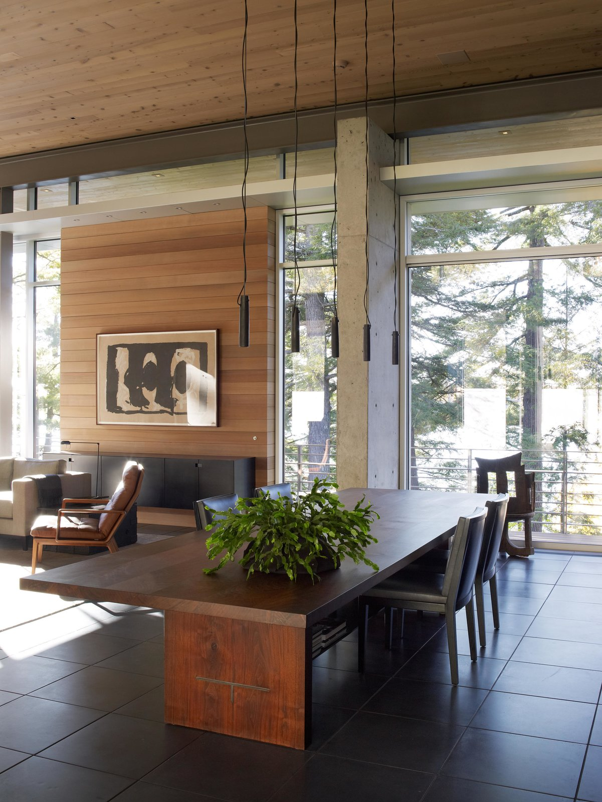 Exterior, Wood, Metal, Garden, Sofa, Ceiling Lighting, Coffee Tables, Pendant Lighting, and Dining Room Northwoods House  Northwoods House by Olson Kundig