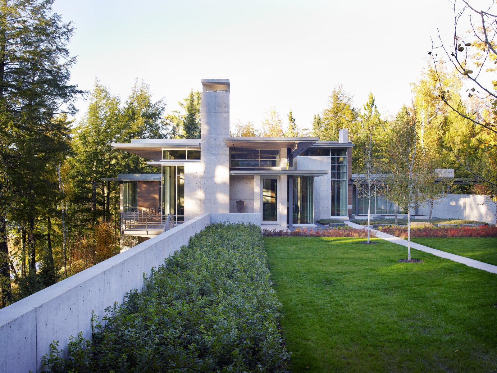 Outdoor, Grass, Shrubs, and Back Yard Northwoods House  Northwoods House by Olson Kundig