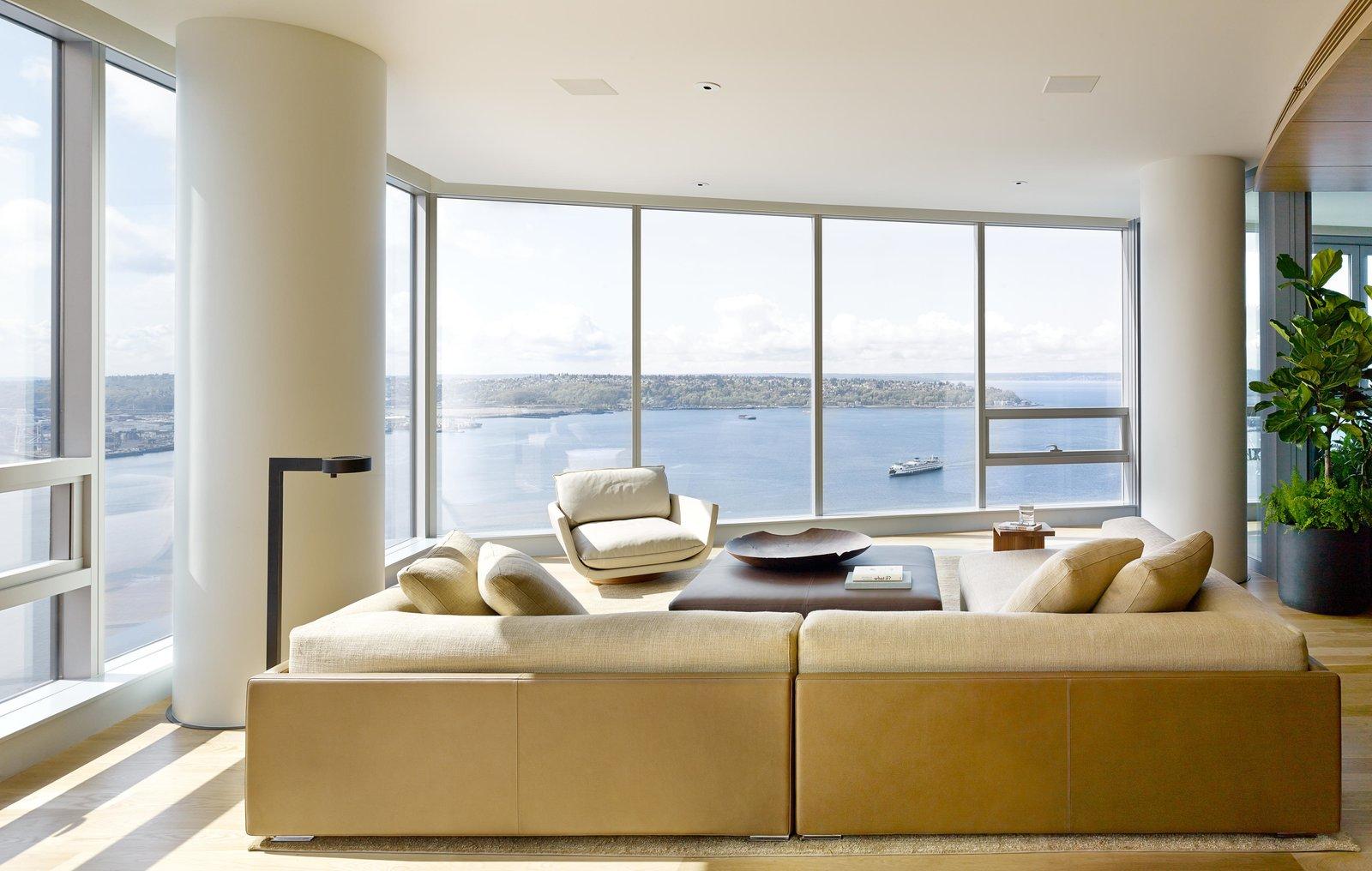Living Room, Sectional, Coffee Tables, Sofa, and End Tables Harbor Loft | Olson Kundig  Harbor Loft by Olson Kundig