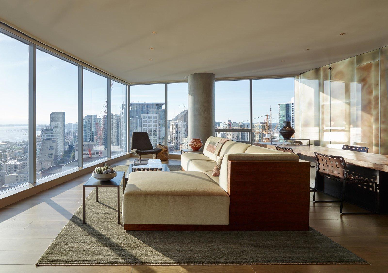 Living Room, Chair, Sectional, and Rug Floor Haven of Reflection   Olson Kundig  Haven of Reflection by Olson Kundig