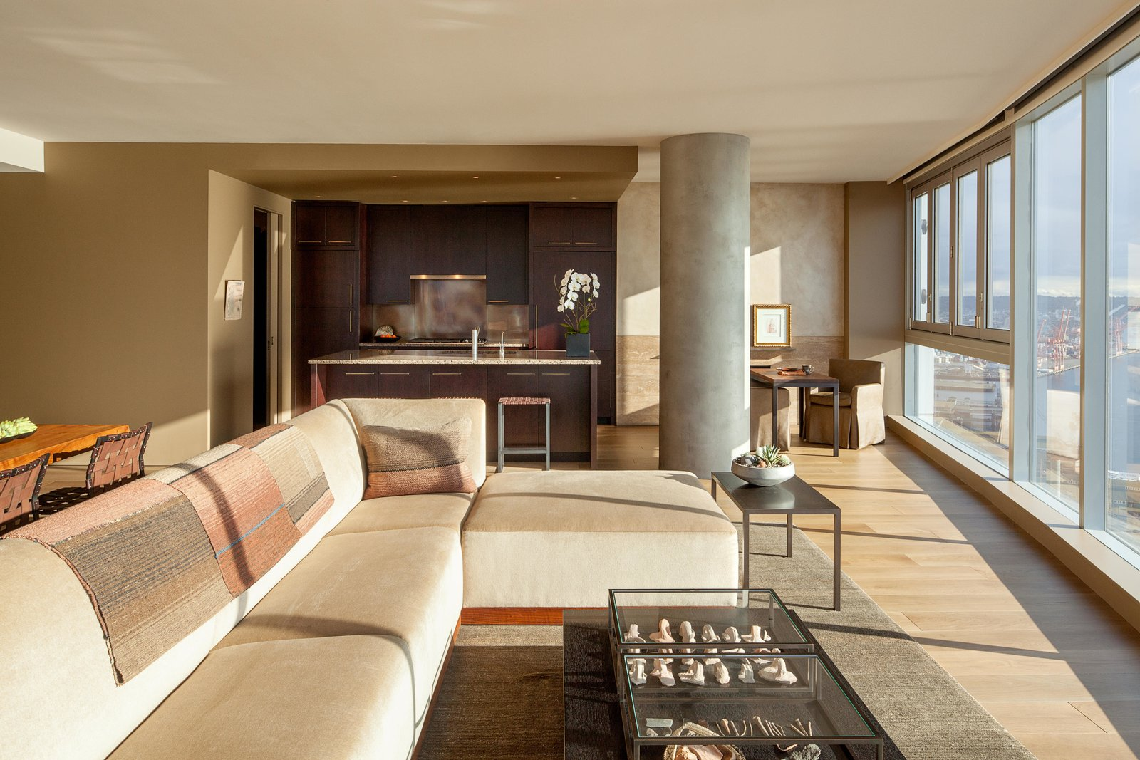 Living Room, Sectional, and Sofa Haven of Reflection | Olson Kundig  Haven of Reflection by Olson Kundig
