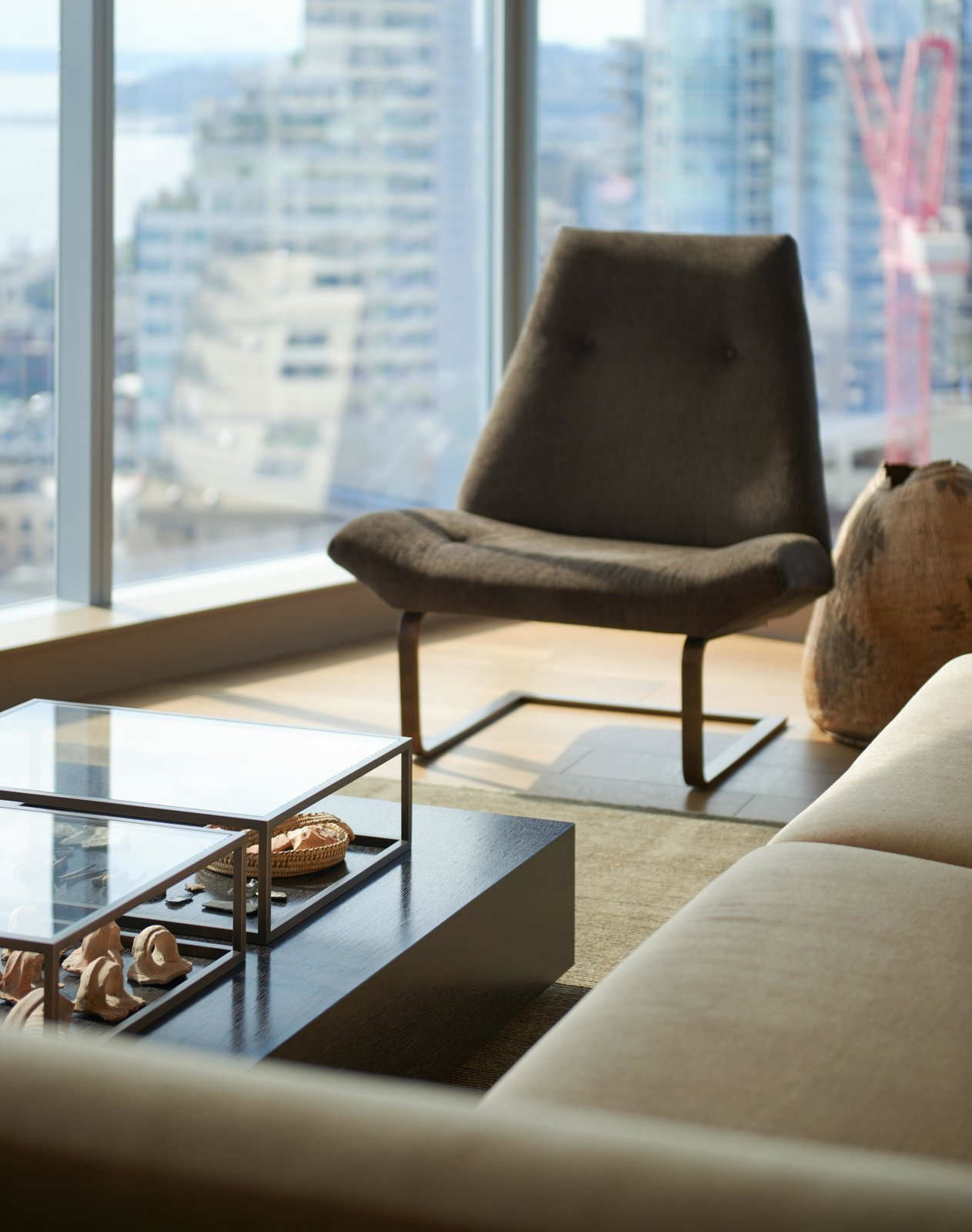 Living Room, Chair, and Sofa Haven of Reflection | Olson Kundig  Haven of Reflection by Olson Kundig
