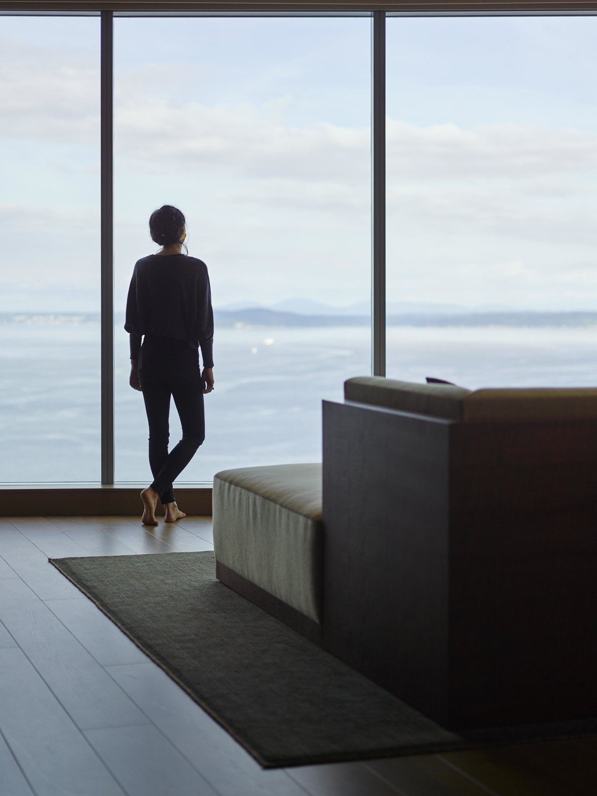 Living Room, Sofa, and Sectional Haven of Reflection | Olson Kundig  Haven of Reflection by Olson Kundig