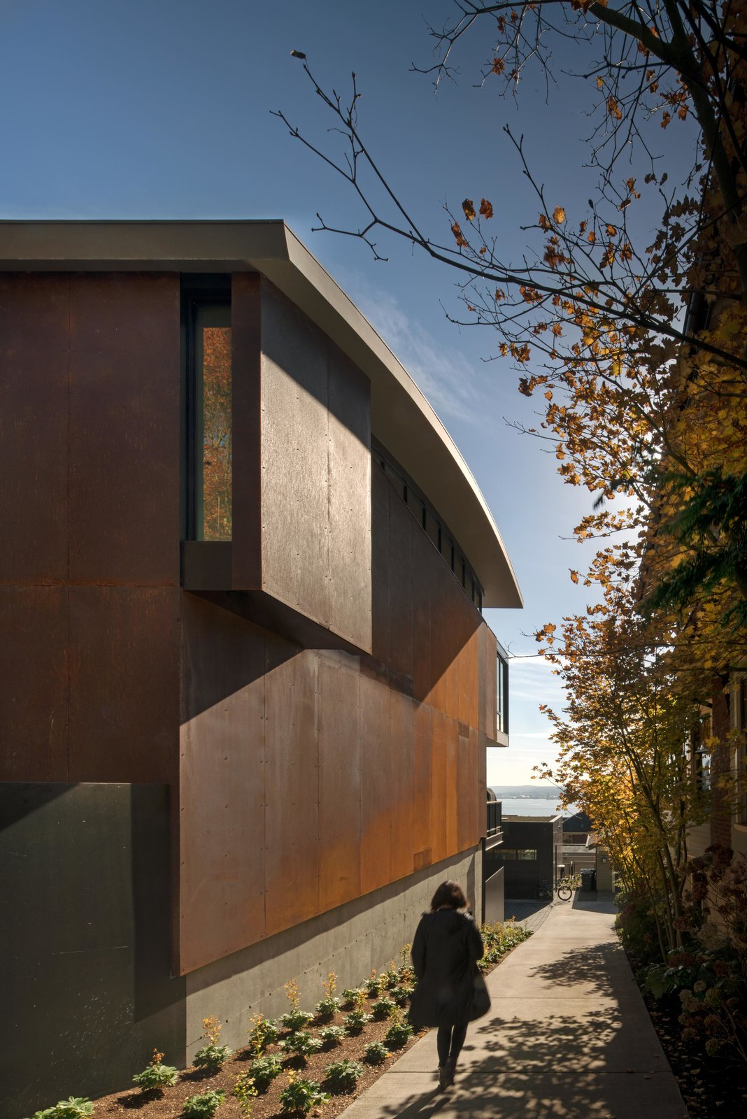 Exterior, House Building Type, Metal Siding Material, and Curved RoofLine Meg Home   Olson Kundig  Meg Home by Olson Kundig