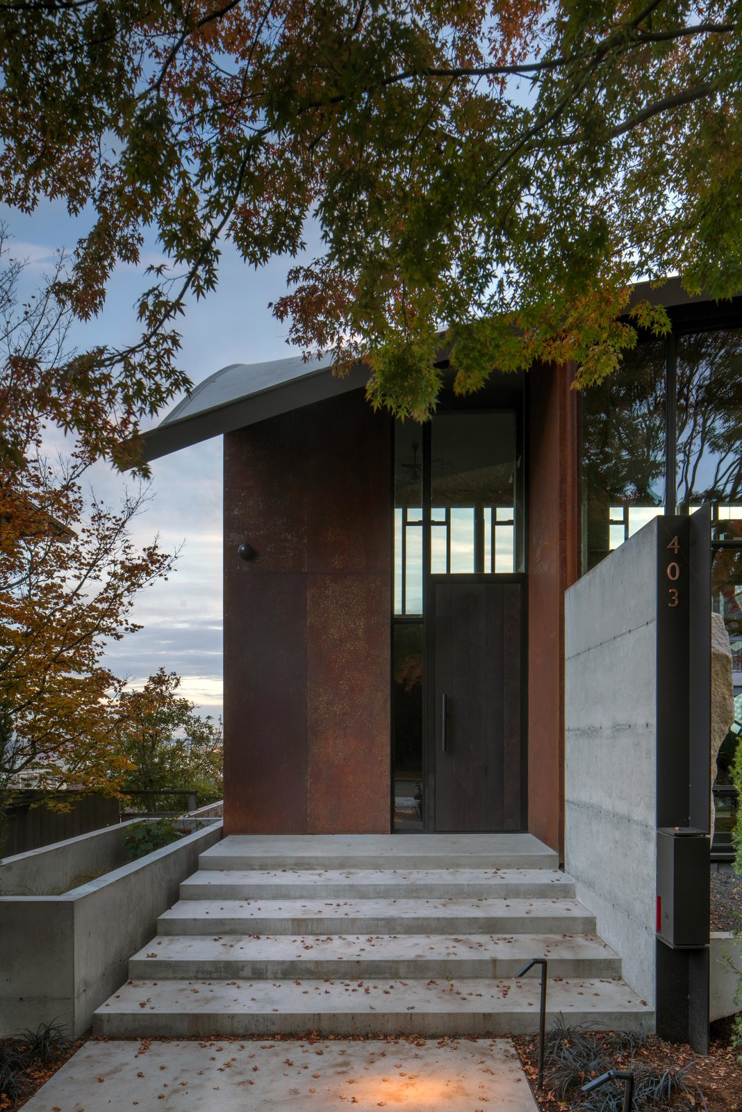 Exterior, Metal Siding Material, Concrete Siding Material, and Curved RoofLine Meg Home   Olson Kundig  Meg Home by Olson Kundig