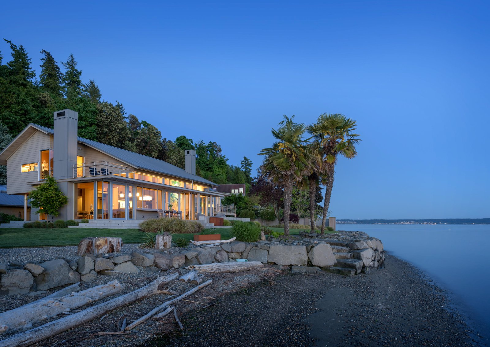 Kitchen Island Lighting >> Fox Island Residence Modern Home in Fox Island, Washington by Olson… on Dwell