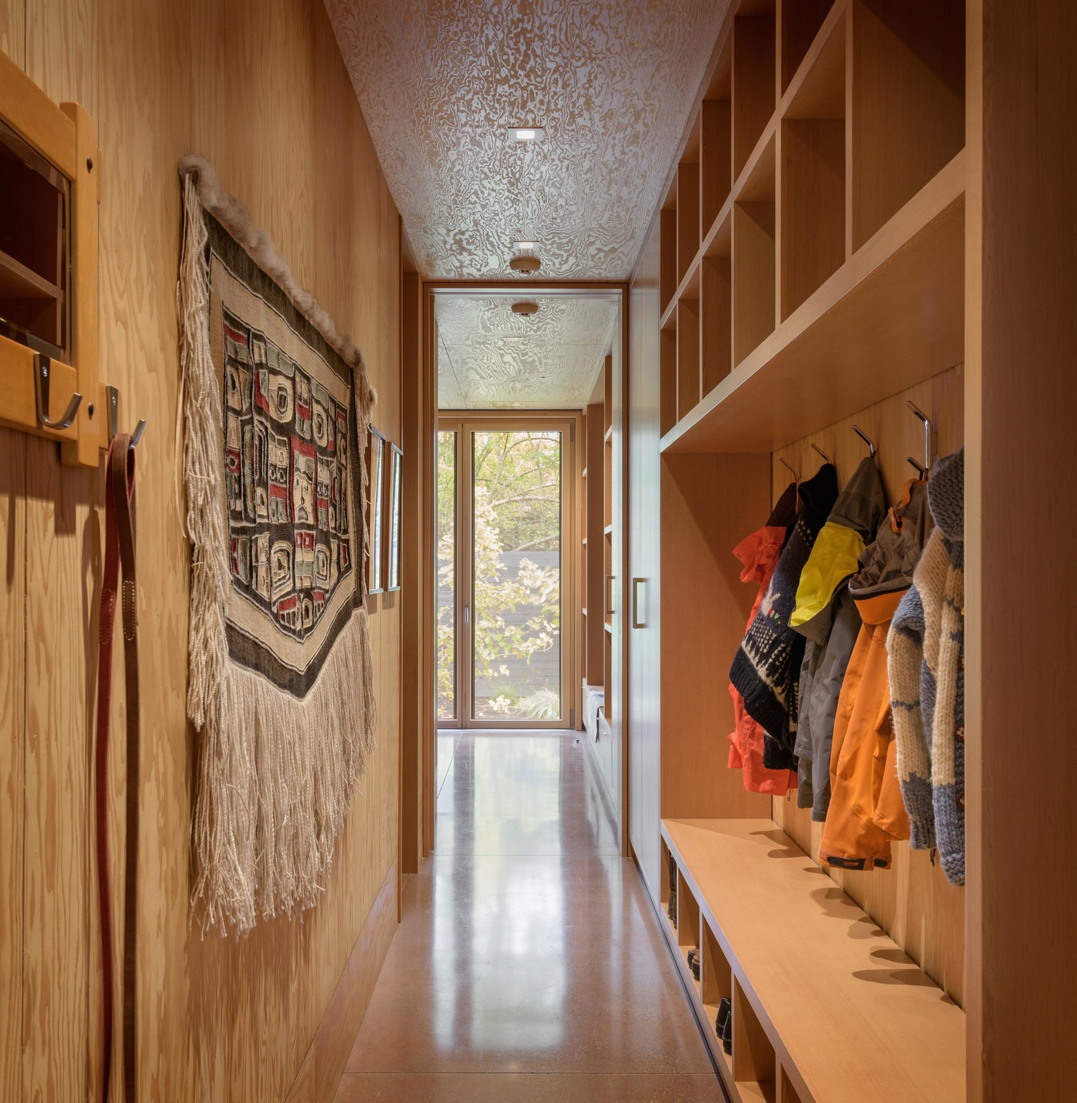 Hallway and Concrete Floor City Cabin   Olson Kundig  Photo 10 of 13 in Immersed in Nature, This City Cabin Targets Net-Zero Energy from City Cabin