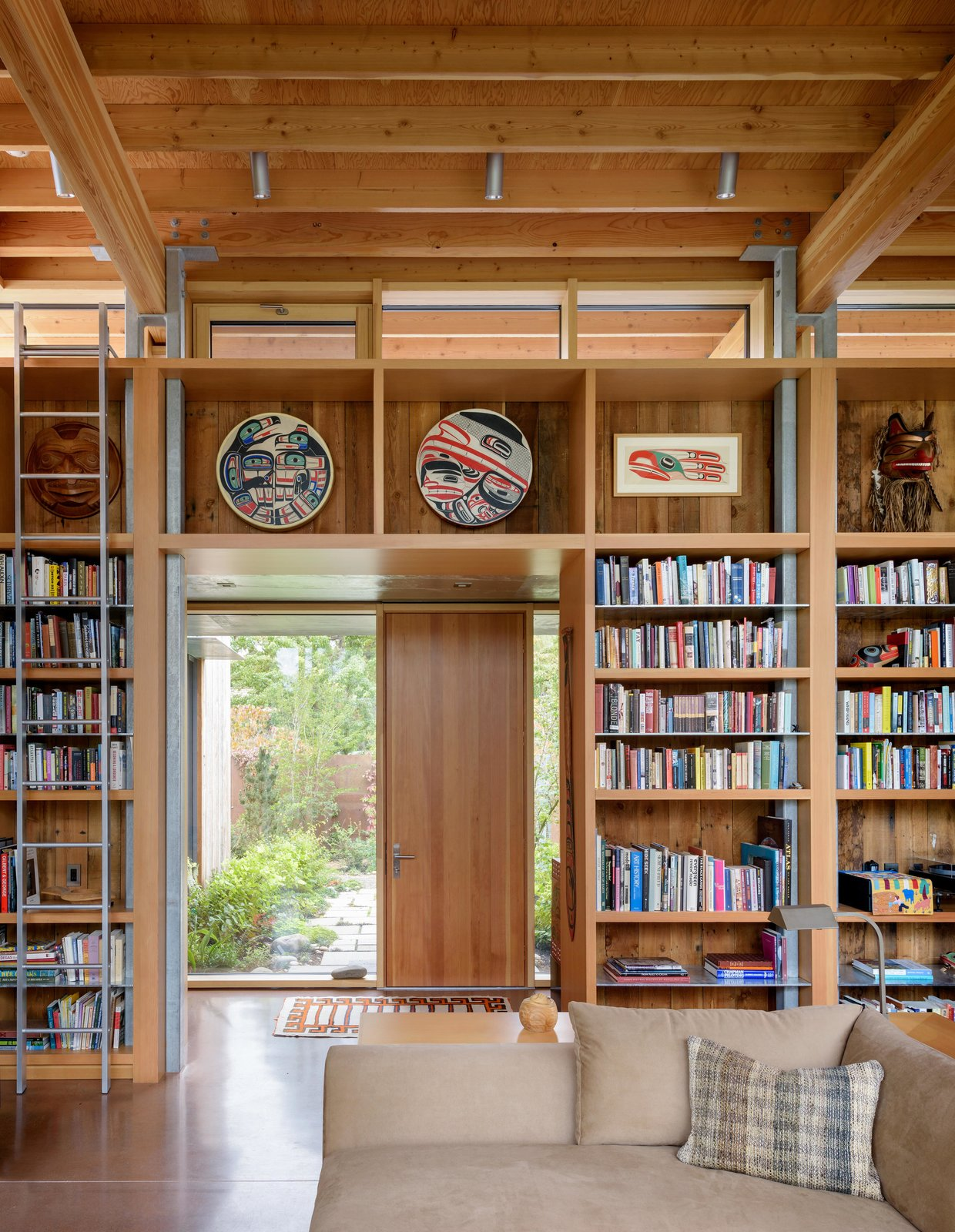 Hallway and Concrete Floor City Cabin | Olson Kundig  Photo 8 of 13 in Immersed in Nature, This City Cabin Targets Net-Zero Energy from City Cabin