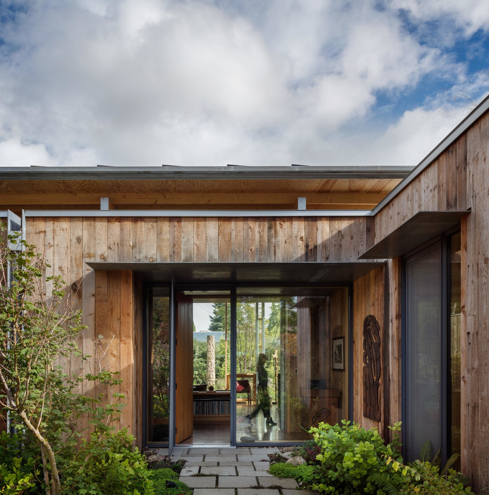 Exterior, Wood Siding Material, and House Building Type City Cabin | Olson Kundig  Photo 3 of 13 in Immersed in Nature, This City Cabin Targets Net-Zero Energy from City Cabin