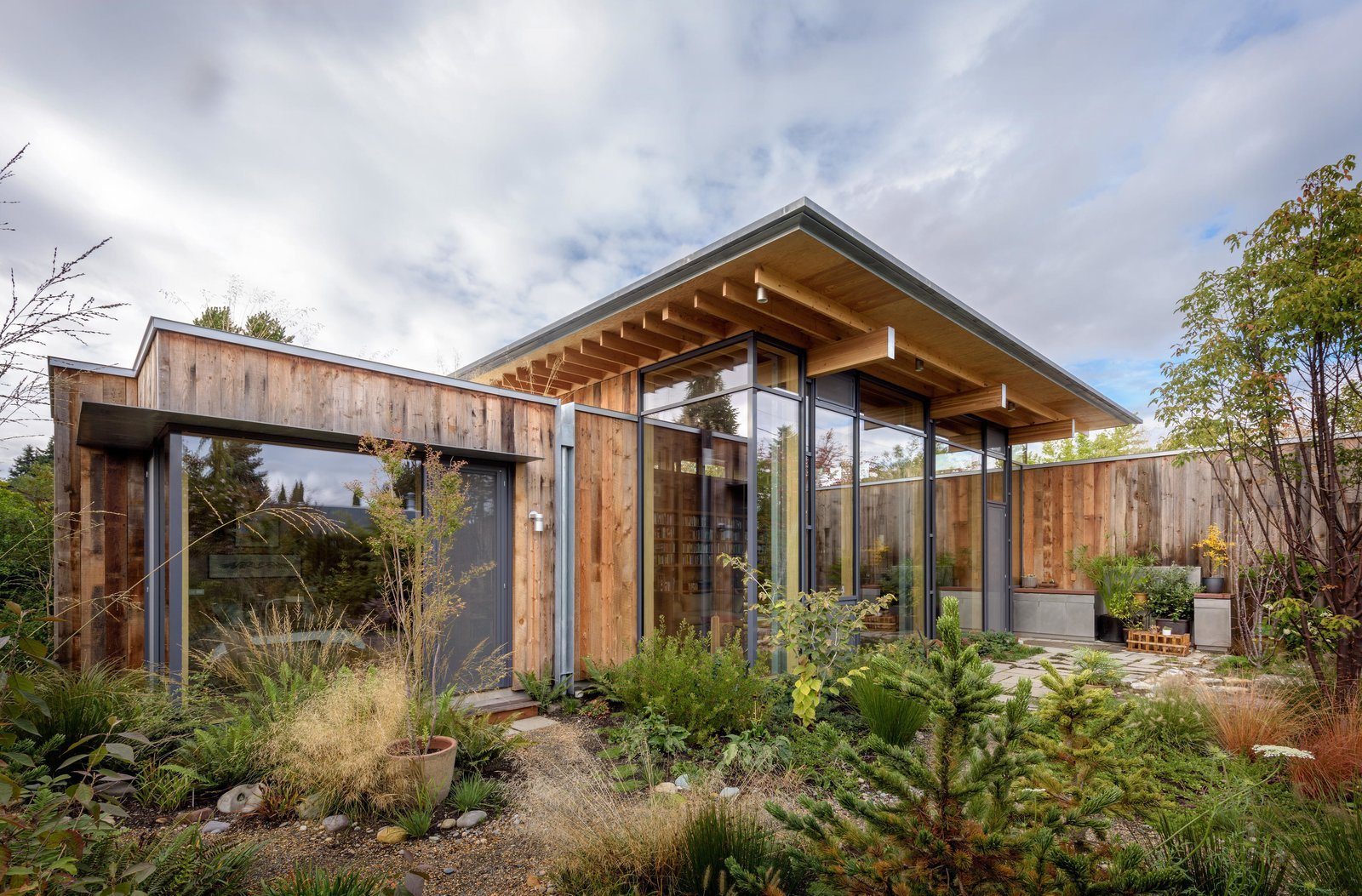 Exterior, House Building Type, and Wood Siding Material City Cabin | Olson Kundig  Photo 2 of 13 in Immersed in Nature, This City Cabin Targets Net-Zero Energy from City Cabin