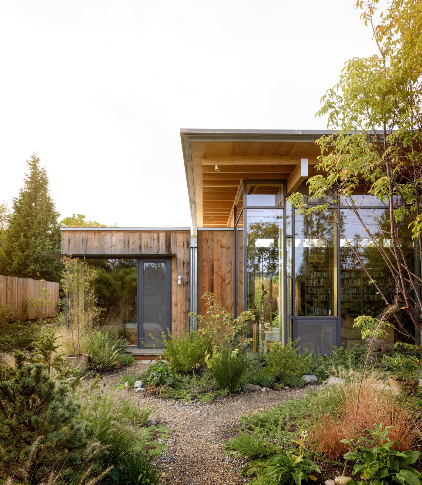 Exterior, Wood Siding Material, and House Building Type City Cabin | Olson Kundig  Photo 1 of 13 in Immersed in Nature, This City Cabin Targets Net-Zero Energy from City Cabin