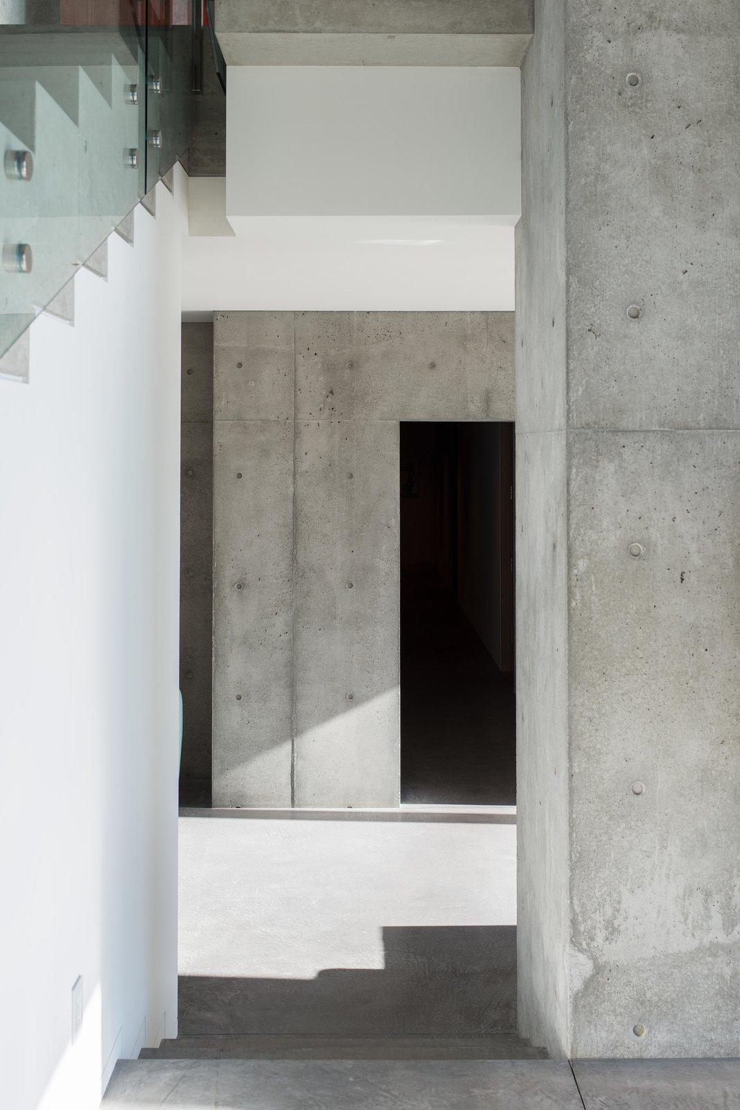 Staircase, Metal, and Concrete Cliff Dwelling   Olson Kundig  Best Staircase Metal Concrete Photos from Cliff Dwelling