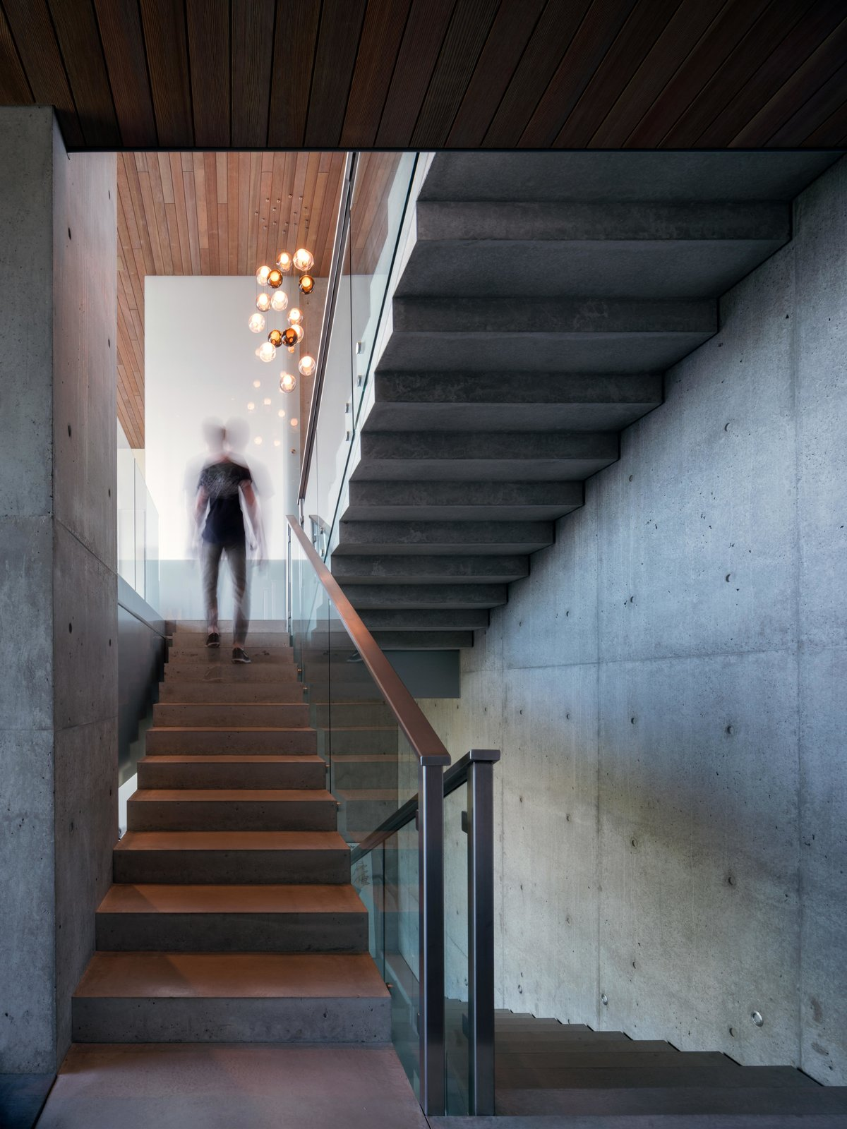 Staircase, Metal, and Concrete Cliff Dwelling | Olson Kundig  Best Staircase Metal Concrete Photos from Cliff Dwelling