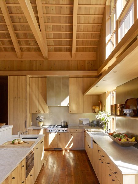 Exposed timber ceilings lend a sense of rustic refinement to Olson Kundig's Country Garden House.