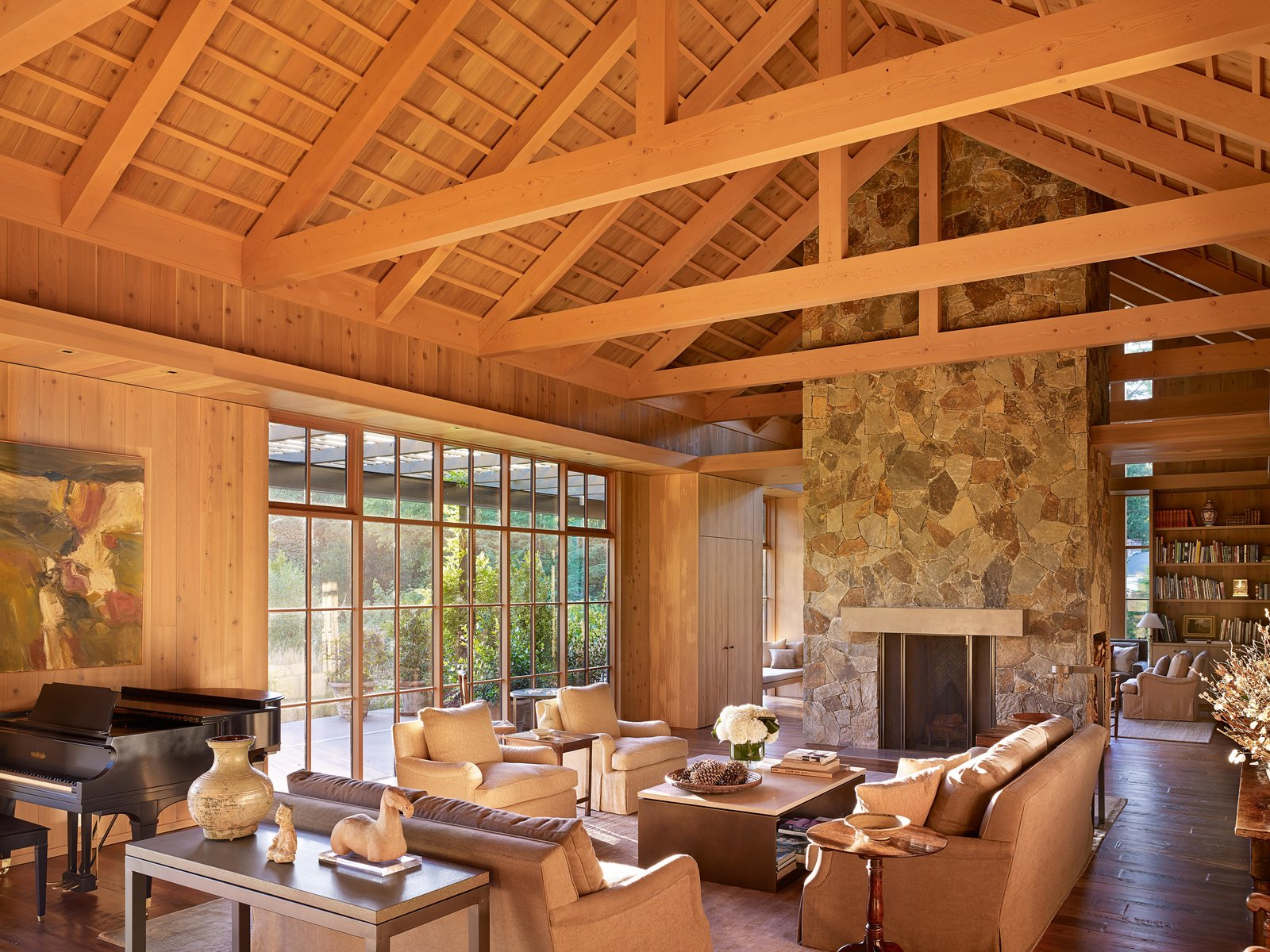 Living, Coffee Tables, Sofa, Two-Sided, Bookcase, Chair, and Console Tables Country Garden House | Olson Kundig  Living Two-Sided Bookcase Photos from Country Garden House