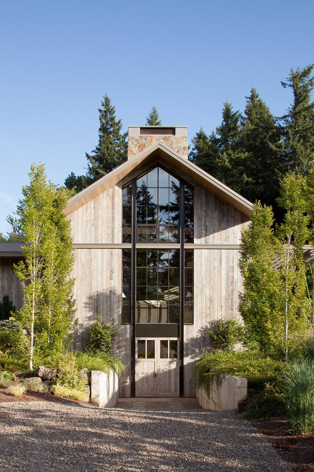Exterior, Wood Siding Material, and House Building Type Country Garden House | Olson Kundig  Country Garden House by Olson Kundig