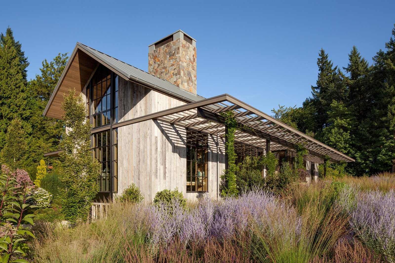Exterior, House Building Type, and Wood Siding Material Country Garden House | Olson Kundig  Country Garden House by Olson Kundig